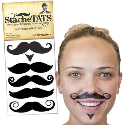 Click to get Stache Tats The Gentleman Temporary Mustache Tattoos